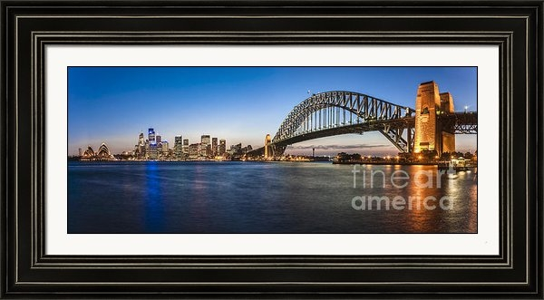 Colin and Linda McKie - Sydney Harbour Evening Pa... Print