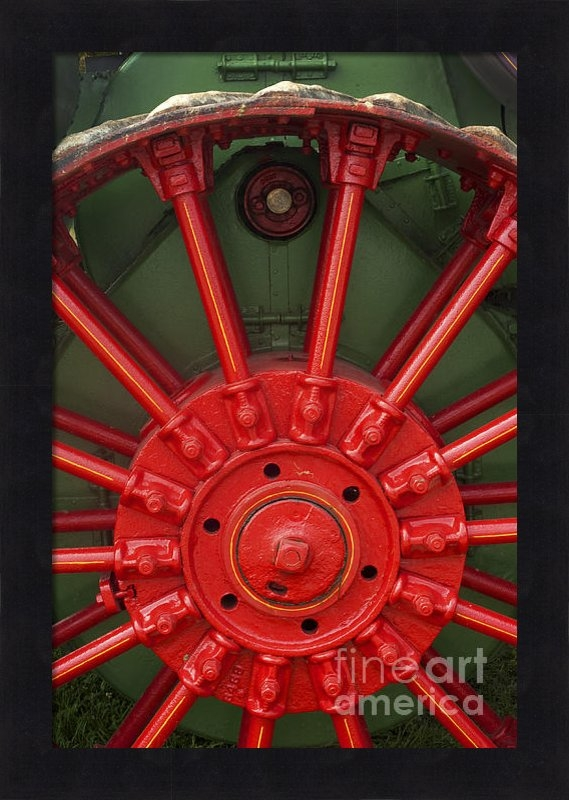 Paul W Faust -  Impressions of Light - Drive Wheel Print