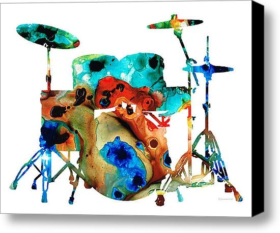 Sharon Cummings - The Drums - Music Art By ... Print