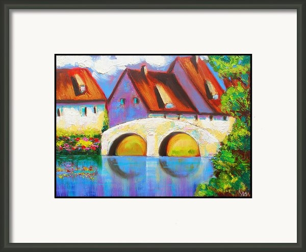 Susi Franco - German Village on The Rhi... Print
