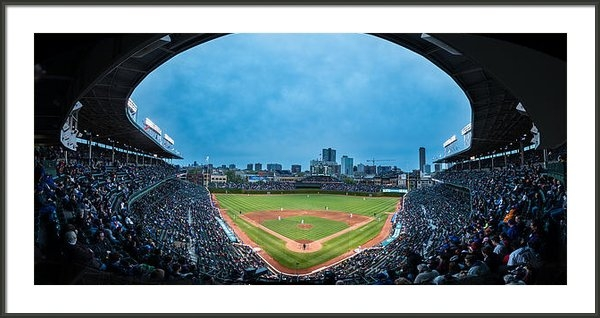 Steve Gadomski - Wrigley Field Night Game ... Print