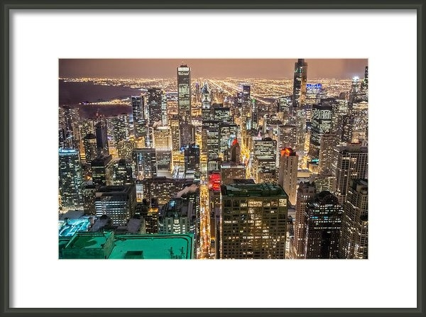 Ryan Crane - Chicago lights Print
