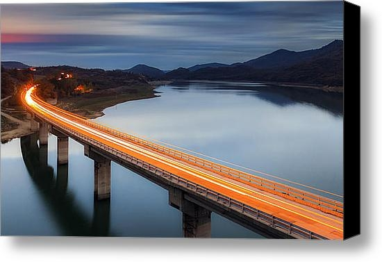 Evgeni Dinev - Glowing Bridge Print