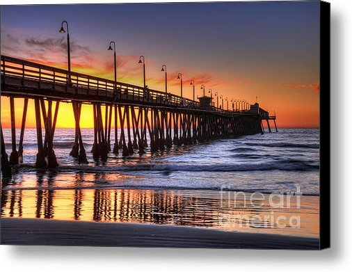 Eddie Yerkish - Imperial Beach Pier Print
