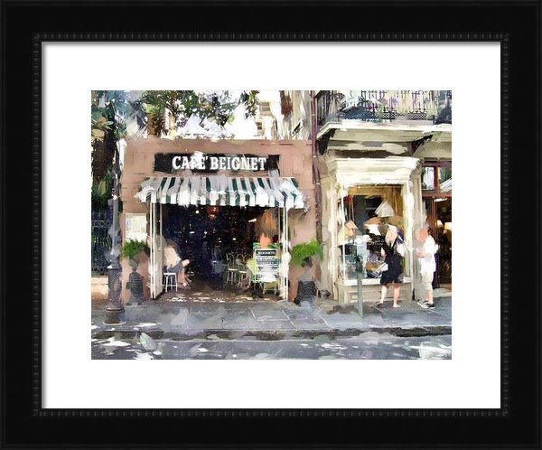Scott Crump - Cafe Beignet Summer Day Print