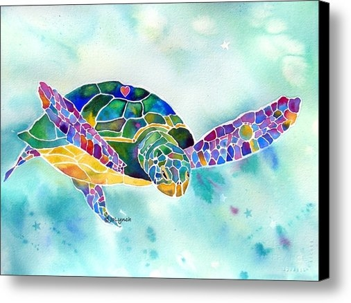 Jo Lynch - Sea Weed Sea Turtle  Print