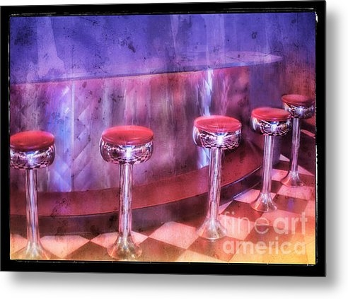 Norma Warden - Soda Fountain Stools II Print