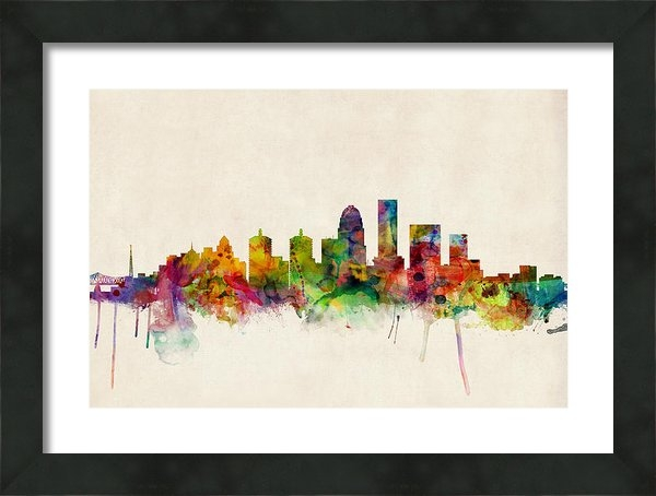 Michael Tompsett - Louisville Kentucky City ... Print