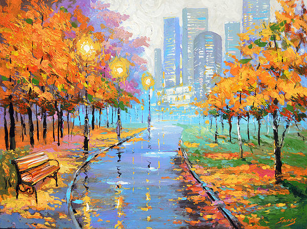 Dmitry Spiros - Autumn in the big city Print