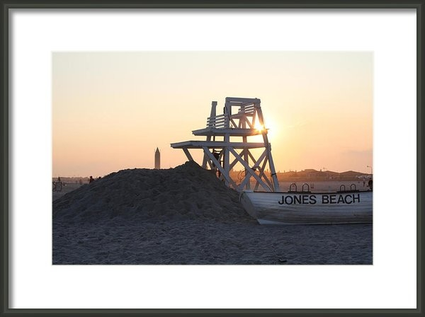John Telfer - Sunset at Jones Beach Print