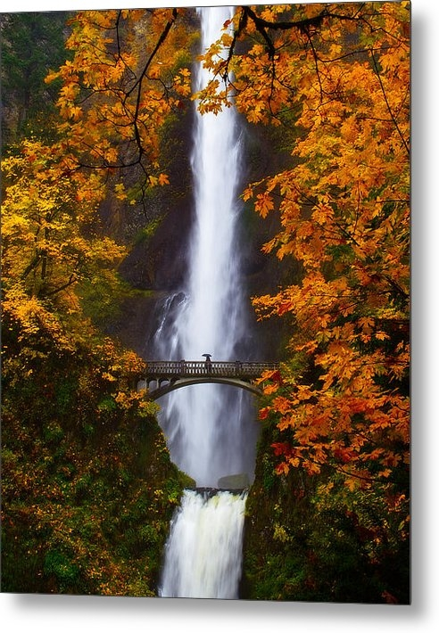 Darren  White - Multnomah Falls Color Print