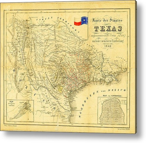 Digital Reproductions - 1849 Texas Map Print