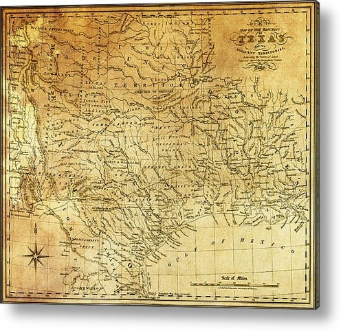 Daniel Hagerman - 1841 REPUBLIC of TEXAS MA... Print