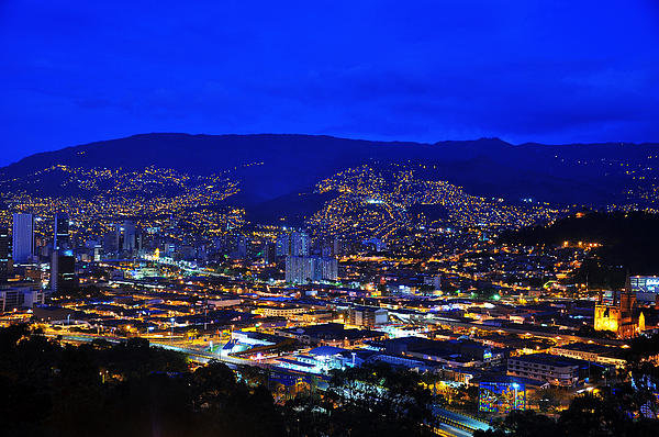Jess Kraft - Medellin Colombia at Nigh... Print