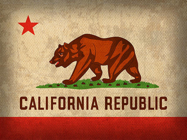 Design Turnpike - California State Flag Art... Print
