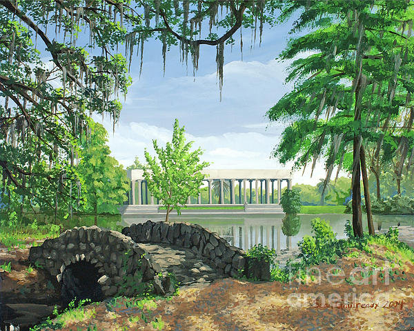 Sean Gautreaux - City Park Bridge Three Pr... Print
