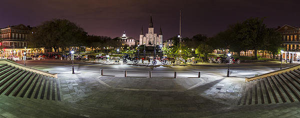 John McGraw - Jackson Square at night  Print