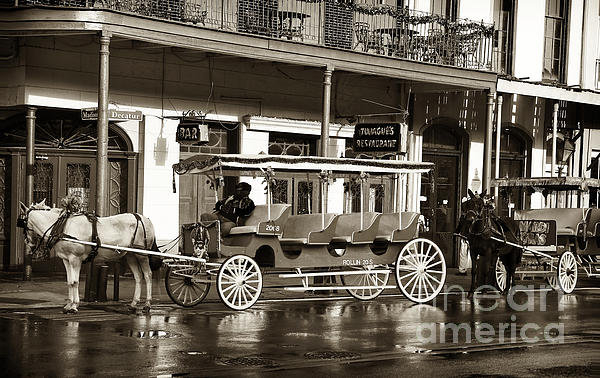 John Rizzuto - French Quarter Carriage Print