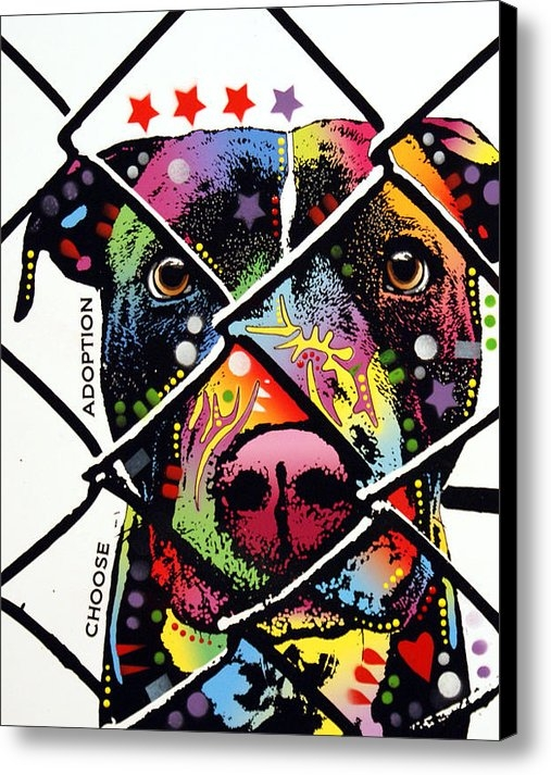 Dean Russo - Choose Adoption Pit Bull Print