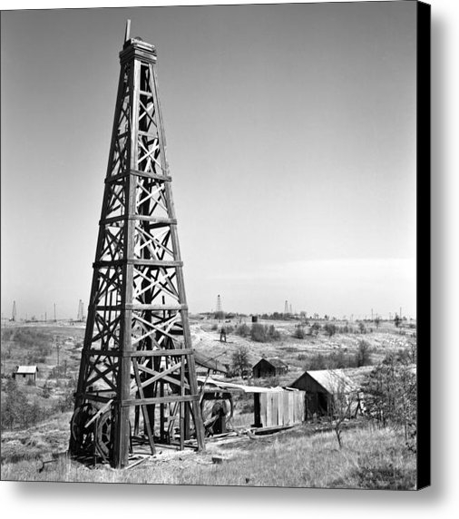 Larry Keahey - Old Wooden Derrick Print