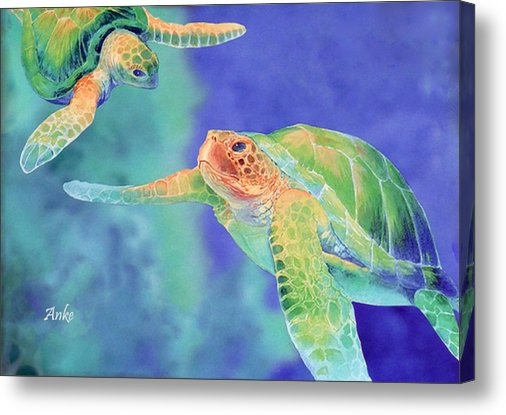 Anke Wheeler - Swimming Seaturtles Print