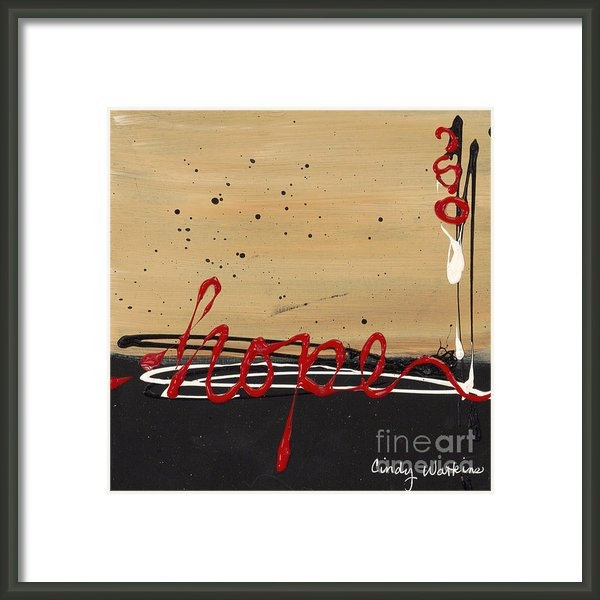 Cindy Watkins - Hope abstract Print