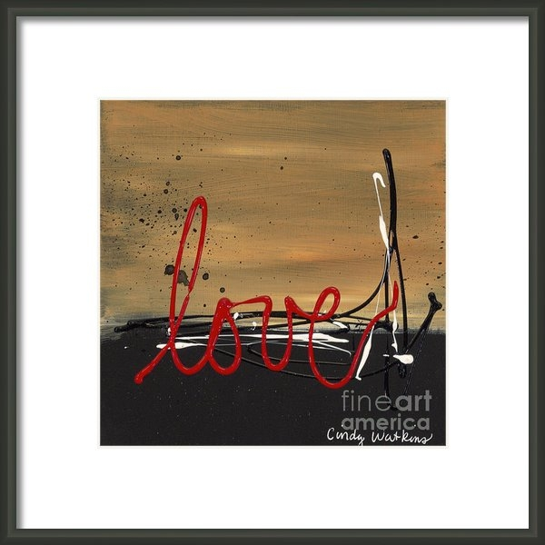 Cindy Watkins - Love abstract Print