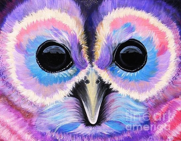 Chrissy Neelon - Purple Owl Print