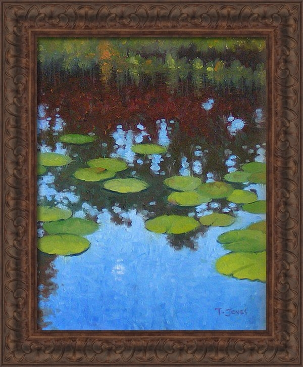 Timothy Jones - Water Lilies at Moonrise Print