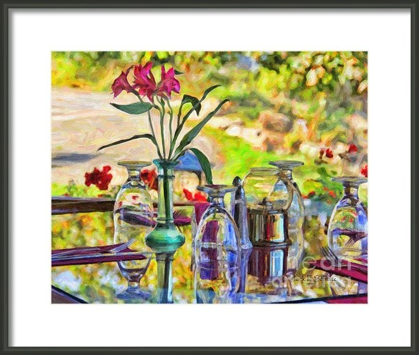 Jack Schultz - Table Setting Reflections Print