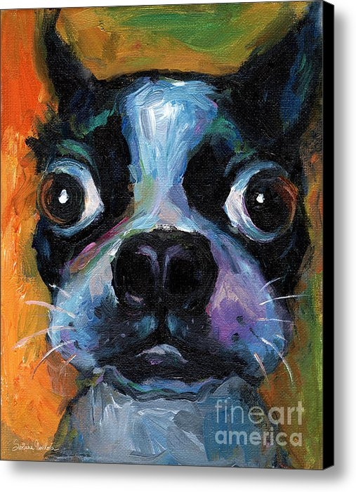 Svetlana Novikova - Cute Boston Terrier puppy... Print