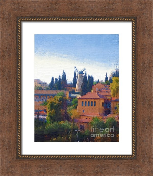 Rick Black - A Windmill in Jerusalem Print