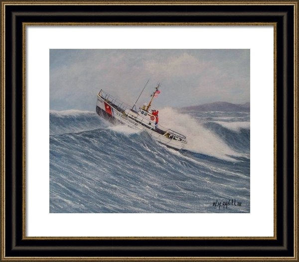 William H RaVell III - Coast Guard Motor Lifeboa... Print