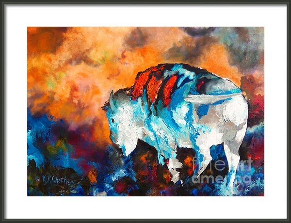Karen Kennedy Chatham - White Buffalo Ghost Print