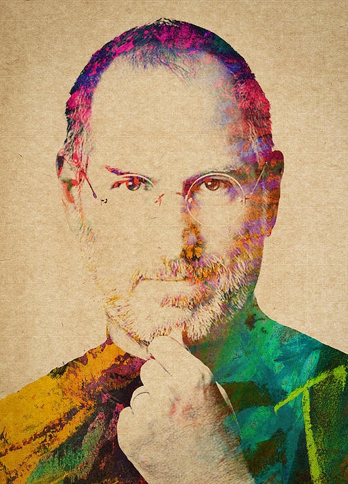 Aged Pixel - Portrait of Steve Jobs Print