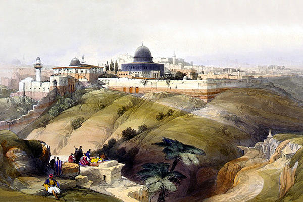 Munir Alawi - Dome of the Rock Print