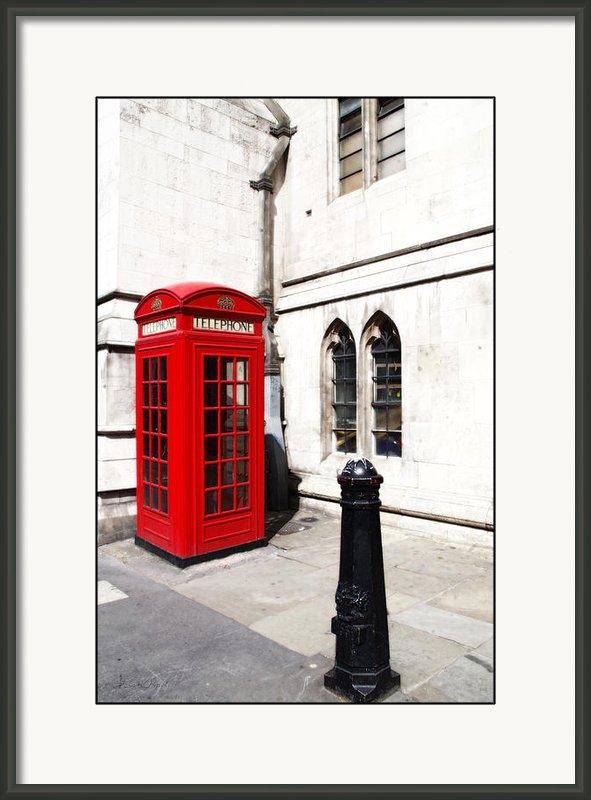 Sharon Popek - London Telephone Box Print
