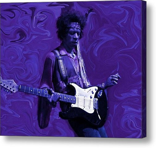 David Dehner - Jimi Hendrix Purple Haze Print
