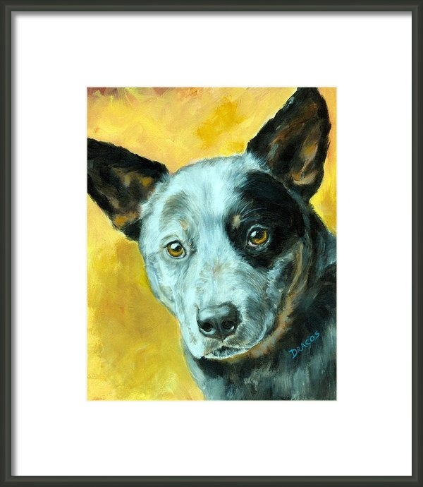 Dottie Dracos - Australian Cattle Dog Blu... Print