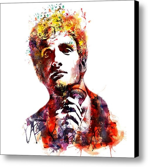 Marian Voicu - Layne Staley watercolor Print