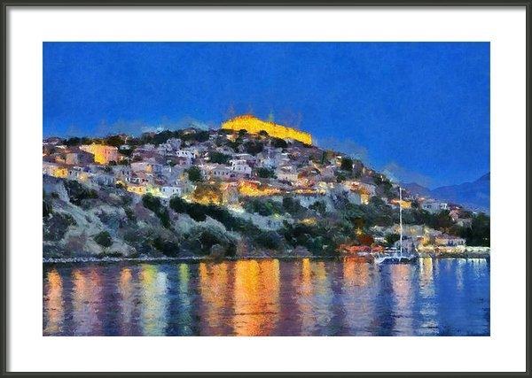 George Atsametakis - Molyvos town in Lesvos is... Print