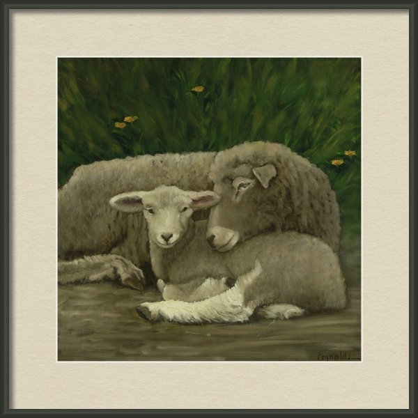 John  Reynolds - Mother And Lamb Print