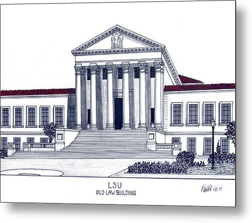 Frederic Kohli - LSU Old Law Building Print