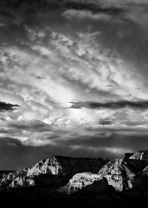 David Bowman - Storm over Sedona Print
