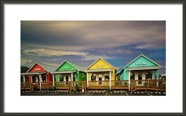 Dale Stillman - Shops of Ocean Shores Print