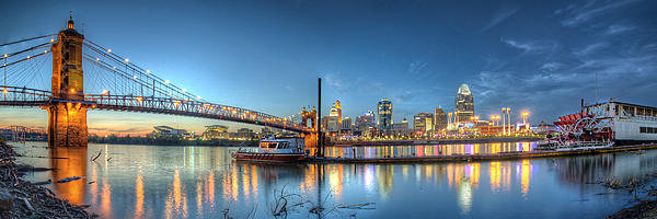 At Lands End Photography - Queen City Panorama at Tw... Print