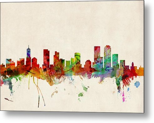 Michael Tompsett - Denver Colorado Skyline Print