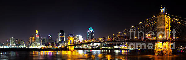 Twenty Two North Photography - Cincinnati Ohio  Skyline Print
