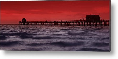 Melanie Viola - Sunset at Naples Pier Print