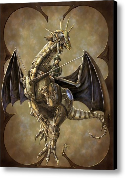 Rob Carlos - Clockwork Dragon Print